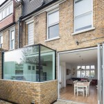 Oriel Window for Contemporary Exterior with Glass Extension