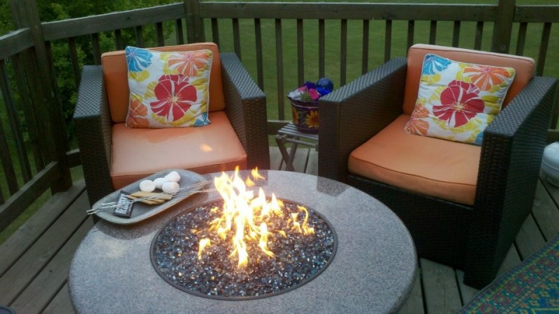 Oriflamme for Traditional Deck with Gas Fire Tables