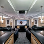 Orland Park Theater for Contemporary Home Theater with Granite Countertop