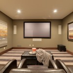 Orland Park Theater for Traditional Home Theater with Carpeting