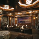 Orland Park Theater for Traditional Home Theater with Wall Sconce