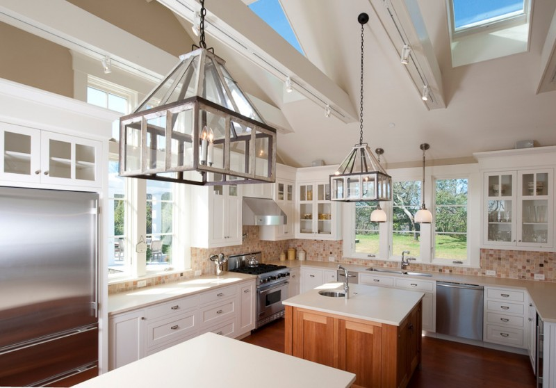 Otte Nyc for Traditional Kitchen with Hanging Lantern
