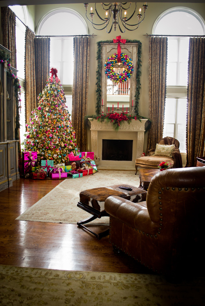 Otte Nyc for Transitional Living Room with Holiday Decorating