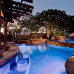 Otte Nyc for Tropical Pool with Outdoor Living