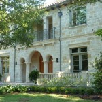 Owens Corning Cultured Stone for Mediterranean Exterior with Covered Entry