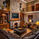 Owens Corning Cultured Stone for Rustic Living Room with Exotic