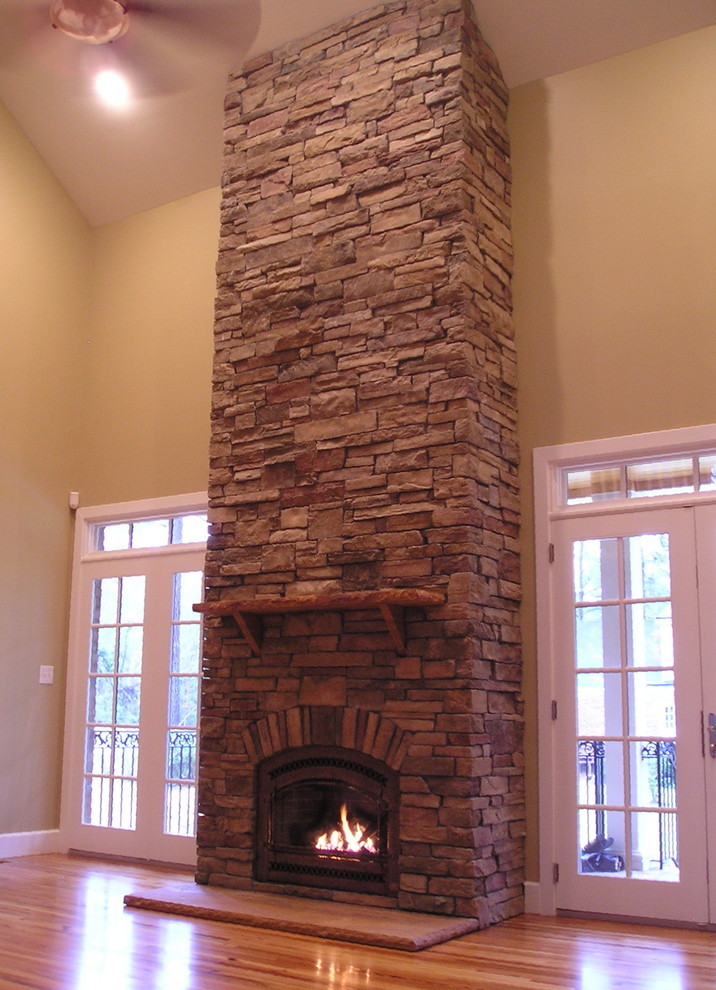 Owens Corning Cultured Stone for Traditional Living Room with Efficient