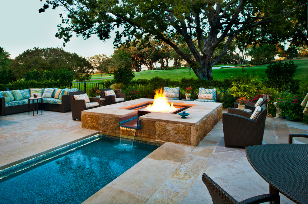 Paddock Pools for Mediterranean Pool with Stone Patio