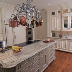 Painted Wood Paneling for Traditional Kitchen with Appliance Panels