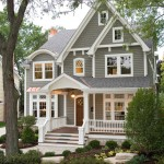 Painting Vinyl Siding for Traditional Exterior with Pendant Lighting