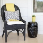 Painting Wicker Furniture for Farmhouse Porch with Farmhouse