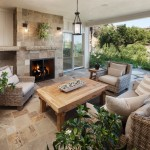 Painting Wicker Furniture for Traditional Patio with Tile Patio Floor