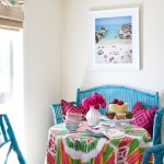 Painting Wicker Furniture for Transitional Kitchen with Kitchen Nook