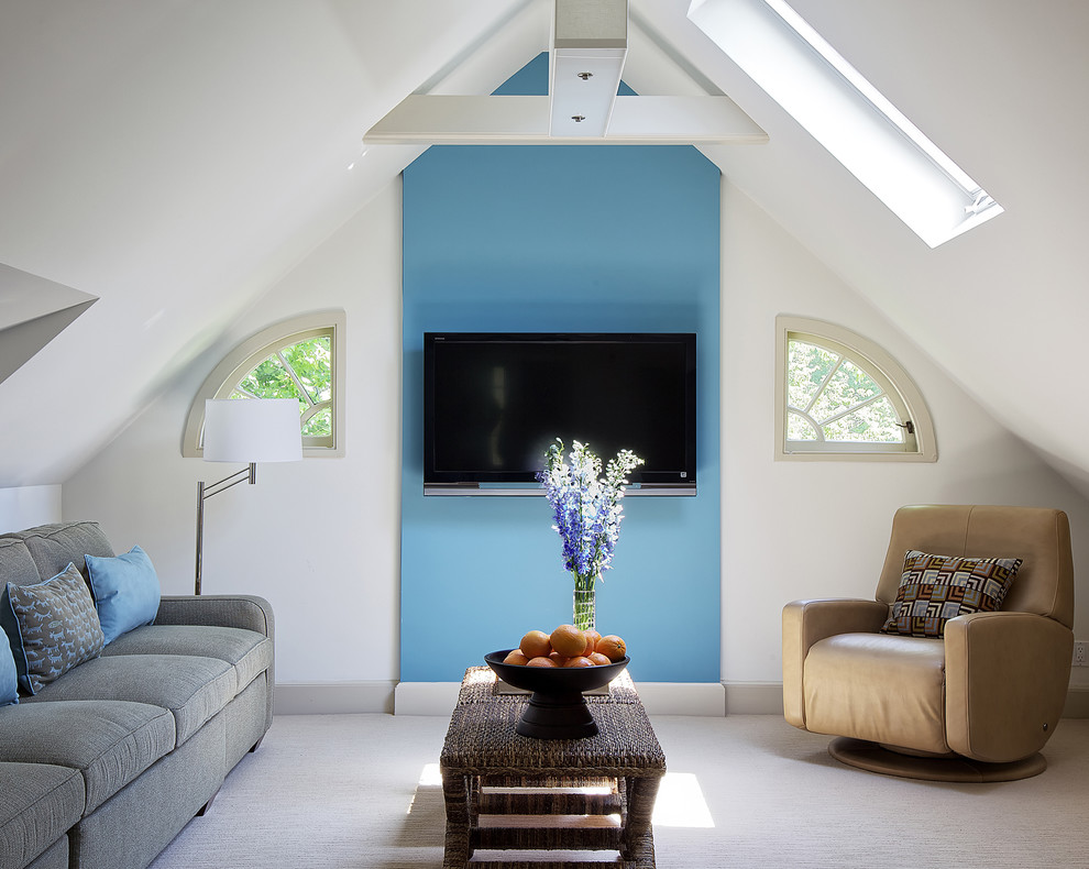 Palacek for Eclectic Family Room with Accent Color
