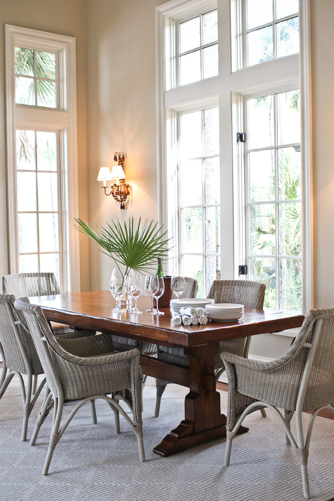 Palecek for Beach Style Dining Room with Divided Lights