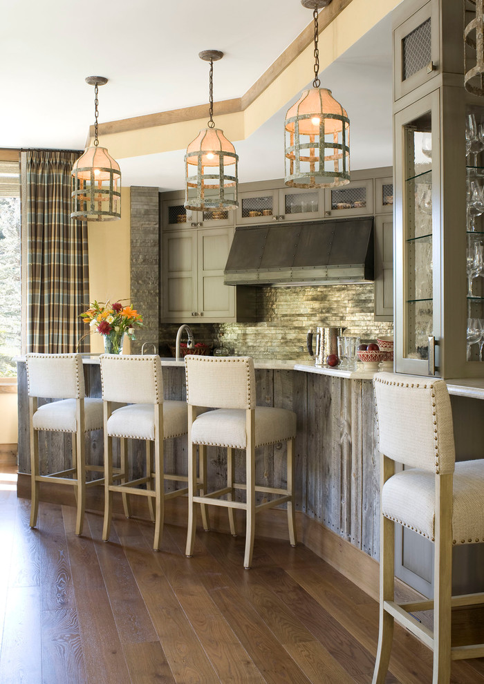Palecek for Contemporary Kitchen with Beige Counter Stool
