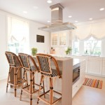 Palecek for Transitional Kitchen with Striped Rug
