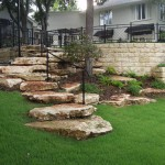 Palisades Zoysia for Traditional Landscape with Rock Steps