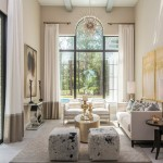 Palladian Window for Mediterranean Living Room with Elegant