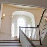 Palladian Window for Traditional Staircase with Railing