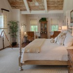 Palmetto Bluff Sc for Transitional Bedroom with Distressed Wood Ceilings