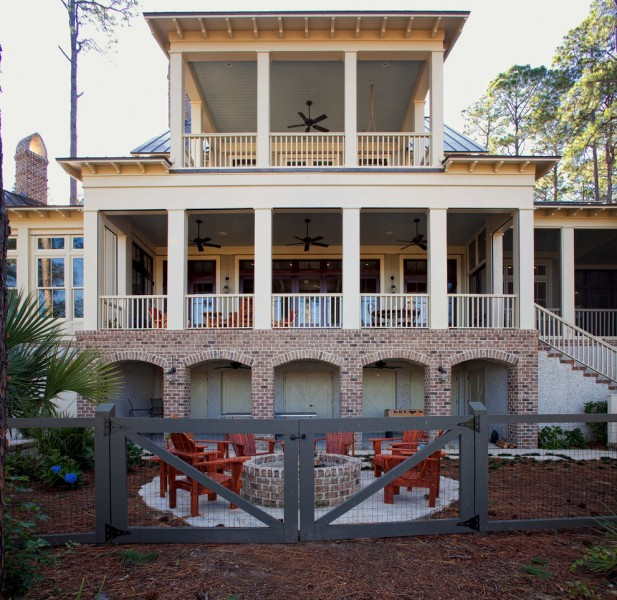 Palmetto Exterminators for Beach Style Exterior with Wood Gate