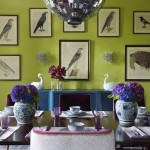 Pantone Color Wheel for Contemporary Dining Room with Wall Art