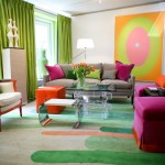 Pantone Color Wheel for Contemporary Living Room with Bold Colors