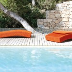 Paola Lenti for Contemporary Pool with Stacked Stone