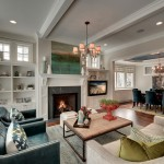 Parade of Homes Mn for Traditional Living Room with Blue Armchairs