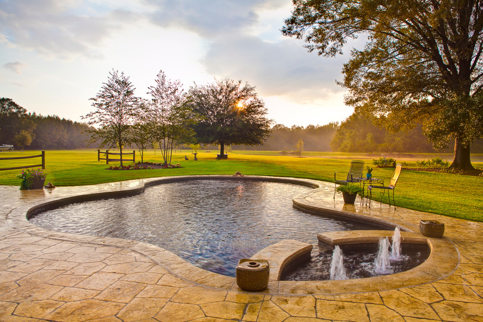 Paradise Pools and Spas for Farmhouse Pool with Landscape Photography