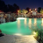 Paradise Pools and Spas for Tropical Pool with Pool Water Fountain