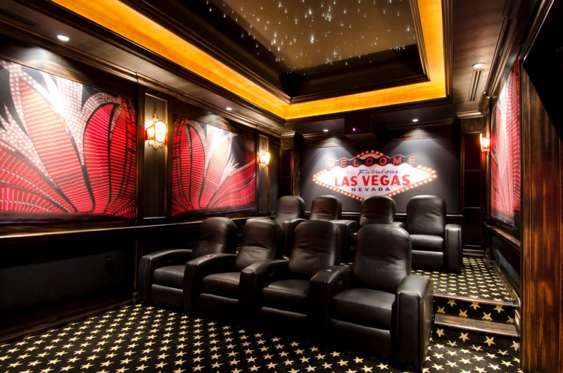 Pardee Homes Las Vegas for Contemporary Home Theater with Las Vegas