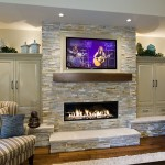 Paula Deen Lemonade for Traditional Family Room with Stone Fireplace