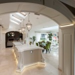 Pawleys Island Posh for Traditional Kitchen with Panelled Archway