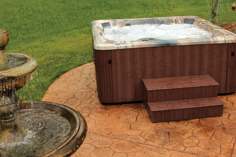 Pdc Spas for Modern Patio with Outdoor Fountains