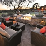 Peaceful Valley Furniture for Southwestern Patio with Outdoor Fireplace