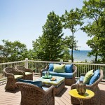Peaceful Valley Furniture for Traditional Deck with Outdoor Wicker Chairs