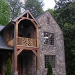 Peachtree Woodworking for Rustic Exterior with Wood Post