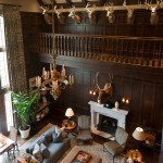 Peachtree Woodworking for Traditional Family Room with Library