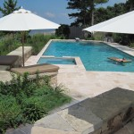 Pebble Tec Colors for Contemporary Pool with Fence