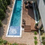 Pebble Tec Colors for Contemporary Pool with Landscaping
