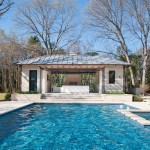 Pebble Tec Colors for Contemporary Pool with Metal Roof
