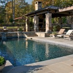 Pebble Tec Colors for Rustic Pool with Chaise Lounge