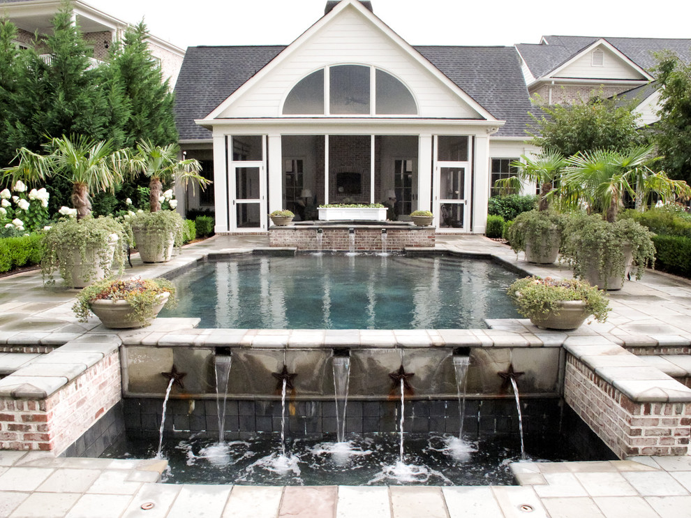 Pebbletec for Traditional Pool with Terrace
