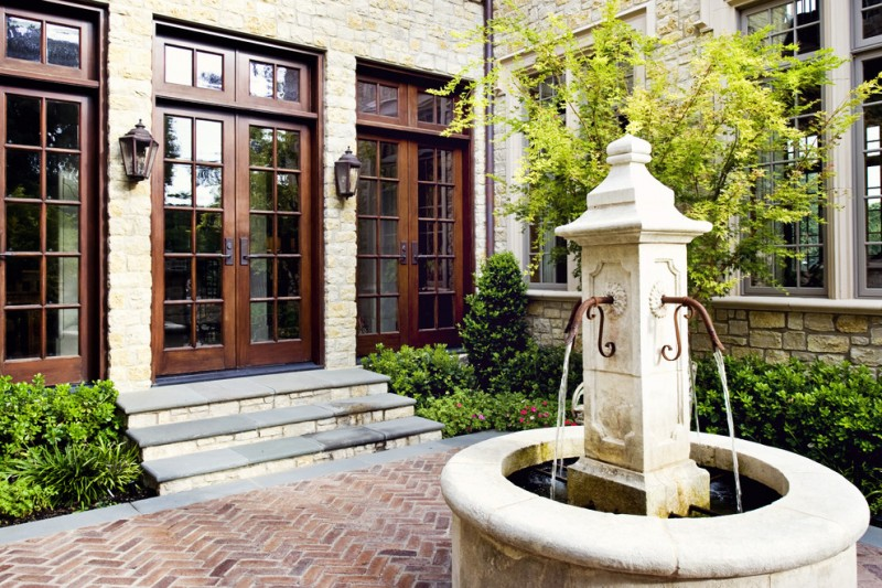 Pella Windows and Doors for Traditional Exterior with Garden Wall