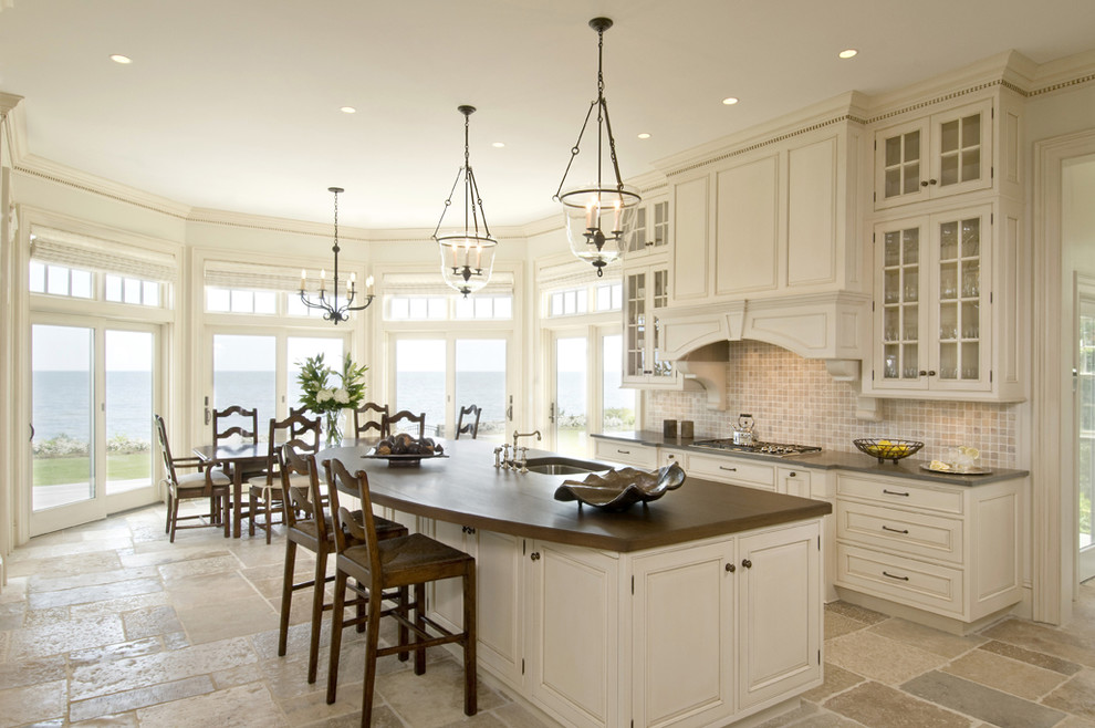 Peninsula Wellness Center for Traditional Kitchen with Bay Window