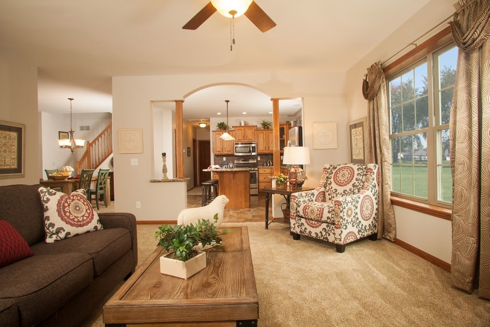 Pennwest Homes for Craftsman Living Room with Factory Built