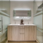 Pental Tile for Contemporary Bathroom with White Counter