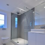 Petit Jean Properties for Contemporary Bathroom with Grey Metro Tile